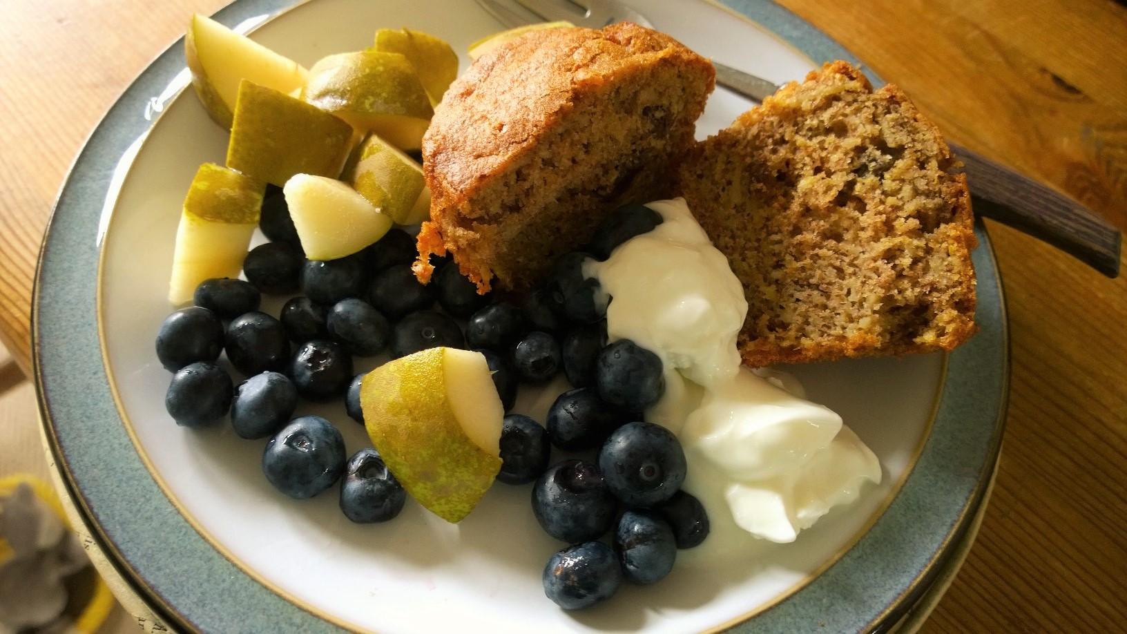 Parsnip and orange muffin