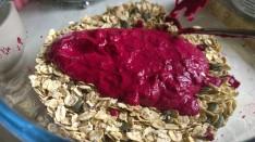 Beet granola mix