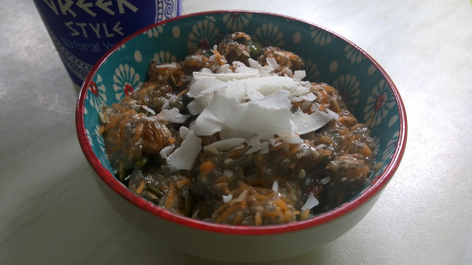 Carrot maple bowl