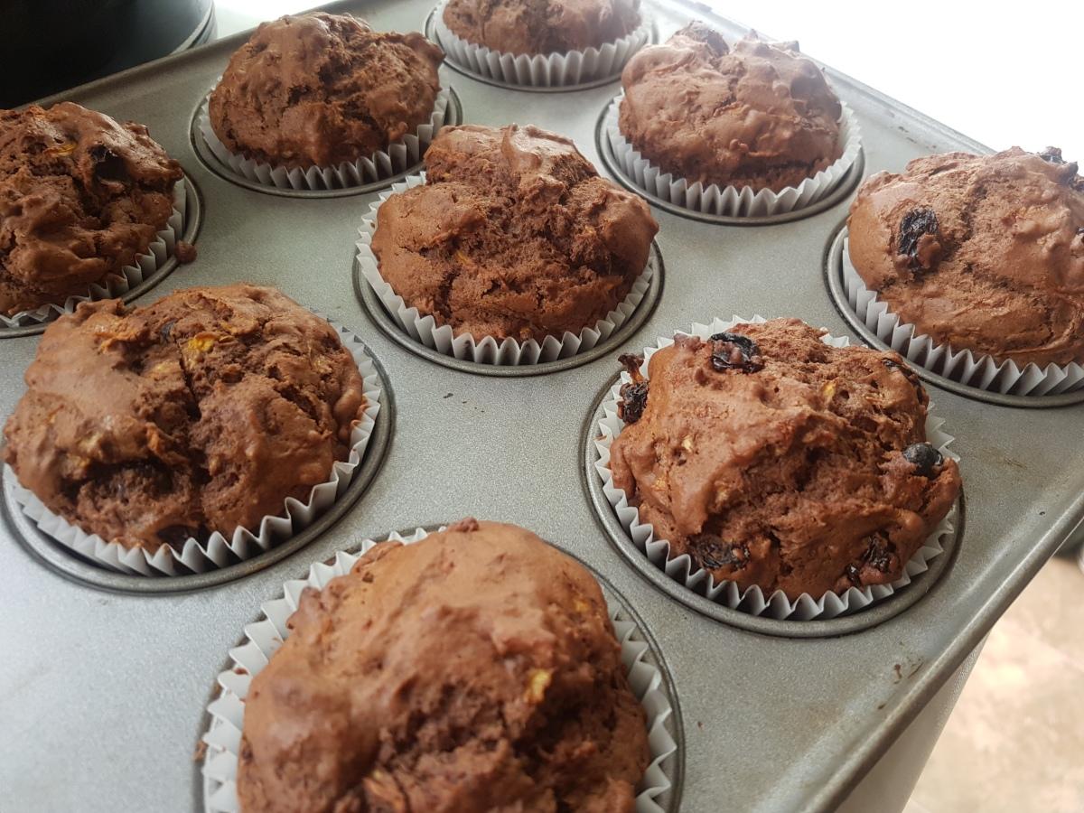 Courgette Choc Muffins